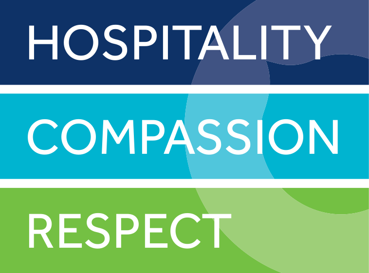 Our values - Hospitality, Compassion & Respect